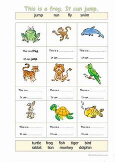 animals worksheets exercises 13776 animals can worksheet free esl printable worksheets made by teachers