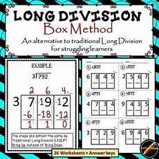 division box method updated math division