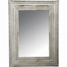 miroir en bois blanc vieilli nmi1320v aubry gaspard