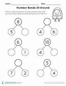 addition number bond worksheets 8792 math fact relationship between addition subtraction worksheet education