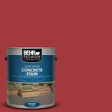 behr premium 1 gal pfc 02 brick solid color concrete stain 83001 the home depot