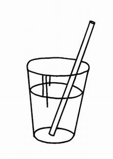 Gratis Malvorlagen Glas Glas Mit Strohhalm 3 Ausmalbild Malvorlage Gemischt