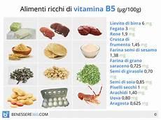alimenti contengono la vitamina d quali sono acido pantotenico propriet 224 benefici ed alimenti