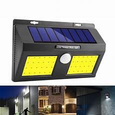 new 100 cob led solar power wall light pir motion sensor
