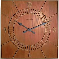 Wood Timber 12inch Square Vintage Wall by Square Wooden Wall Clock 50cm