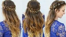 half up crown braid hair tutorial summer hairstyles 2017 braidsandstyles12 youtube