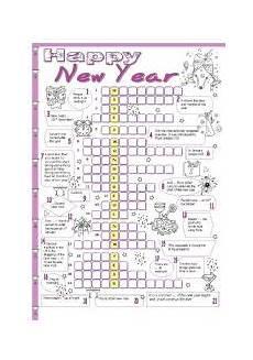 worksheets new year 19370 new year crossword esl worksheet by tecus