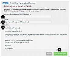 how edit a payment receipt email template rocket matter knowledge base