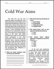 free worksheets for high school 19257 pin en cold war