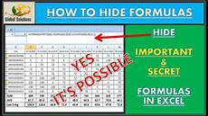 how to hide formulas in excel hide formula in excel ms