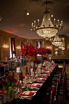 fabulous black red and silver wedding with lots of bling