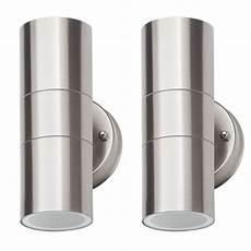 2 of kenn up down light outdoor wall light satin chrome from litecraft