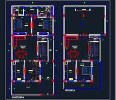 autocad 2d plans for houses house space planning floor plan 30 x65 dwg file autocad