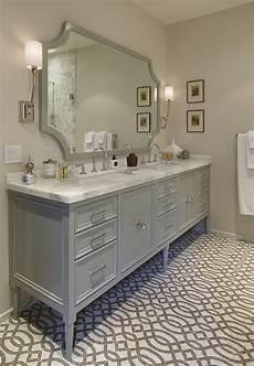 Bathroom Ideas Grey Vanity by Furniture Style Gray Vanity Gray Trellis Tile Floor