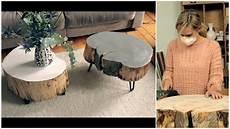 tisch aus baumscheibe selber machen