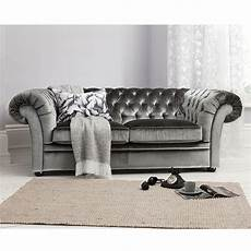 Sofa Samt Grau - sarina sofa in grey by gallery homewares sumptuous