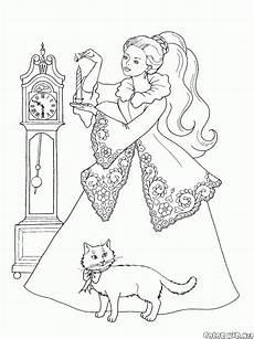 Ausmalbild Prinzessin Katze Malvorlagen Prinzessin Und Katze