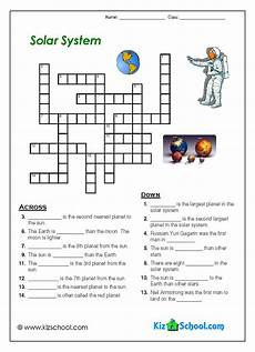 4th grade space science worksheets 13406 solar system crosword solar system for space activities for solar system worksheets