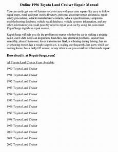 online service manuals 1996 toyota land cruiser transmission control 1996 toyota land cruiser repair manual online