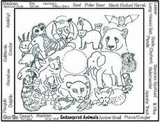 animals and their coloring pages 17201 endangered animals coloring 4 printables lesson austeacherbfr earth day coloring pages
