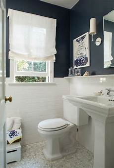 Bathroom Wall Decor Photos by Navy Bathroom Walls With White Subway Tiles Cottage