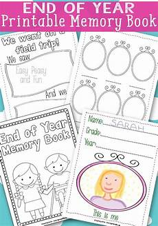 end of year memory book free printable homeschooling