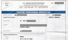 contoh faktur mobil dokumen yang diperlukan saat transaksi jual beli mobil