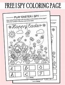 easter i spy coloring page printable worksheet printables 4 mom