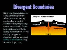 what does a divergent boundary form plate boundaries