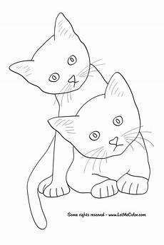 Katze Sitzend Malvorlage Animals Letmecolor