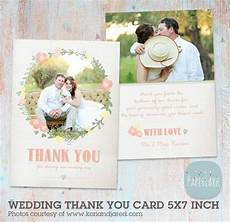 thank you cards template wedding back wedding thank you card photoshop template aw008 instant