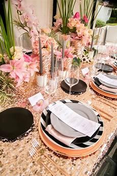 modern glam black rose gold wedding ideas every last detail