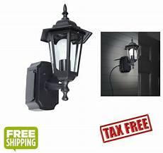 outdoor black wall light fixture patio porch exterior sconce lantern outlet new 708325102545 ebay