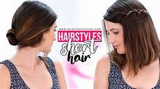 easy hairstyles for short hair tutorial step by step