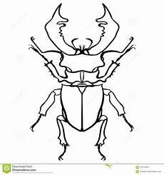 Deere Malvorlagen Xl ściga Rogacz żuk Horn Dużego Insekta Kreskowa Sztuka