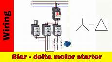 how to wire star delta motor starter power and control circuit youtube