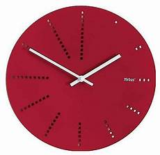 225 wanduhr quot holz quot rot modern 30 cm ab an die wand