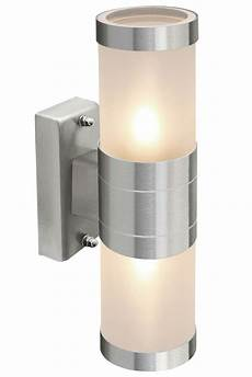 8w led outdoor up down stainless steel wall light frosted glass cover zlc017 ebay
