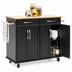 Kitchen Island Cart With Cabinets by Best Choice Products Portable Kitchen Island Cart W Wood