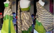 Model Dress Batik Pesta Id