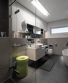 Bad Fliesen Modern - badezimmer graue wand mosaik fliesen wand waschtisch