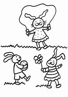 kostenlose malvorlage kaninchen kaninchen kinder zum ausmalen