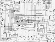 harley davidson 1991 93 flstc flhs wiring diagram service