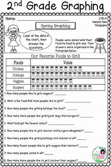 graphing activities and assessments 2nd grade graphing activities picture graph worksheets