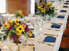 montage deer valley destination wedding rustic wooden box sunflower centerpiece sunflower