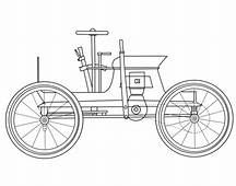 Antique Car Coloring Page  Free Printable Pages