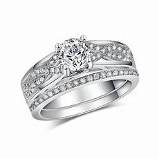 sterling silver jewelry fashion bridal sets ring for engagement ring cz diamond wedding