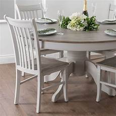 shabby chic country dove grey white wooden large dining kitchen table h18887
