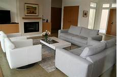 grey living room beige couch modern house