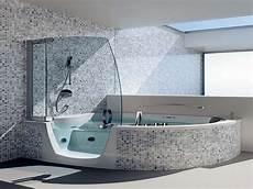 Badewanne Und Dusche Kombiniert - black and white small bathrooms corner whirlpool shower